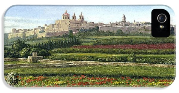 Mdina Poppies Malta IPhone 5 Case by Richard Harpum