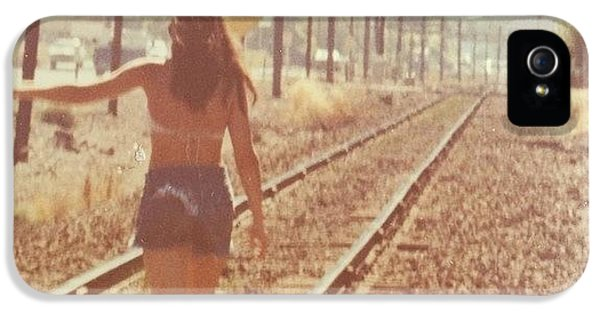 Me Back In The 70s When Livin' Was IPhone 5 Case by Blenda Studio