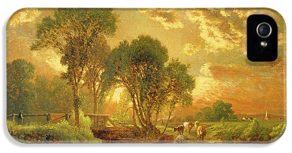 Rural Scenes iPhone 5 Case - Medfield Massachusetts by Inness