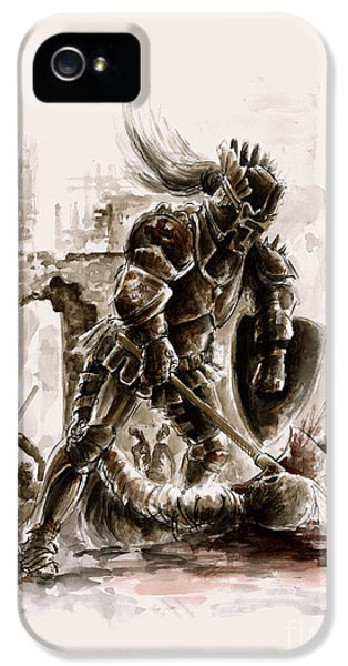 Dungeon iPhone 5 Case - Medieval Knight by Mariusz Szmerdt
