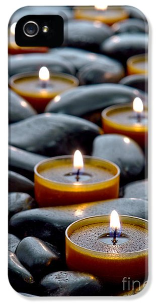 Meditation Candles IPhone 5 Case by Olivier Le Queinec