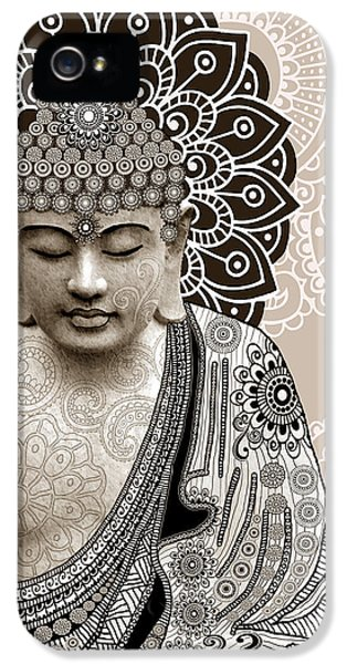 Meditation Mehndi - Paisley Buddha Artwork - Copyrighted IPhone 5 Case by Christopher Beikmann