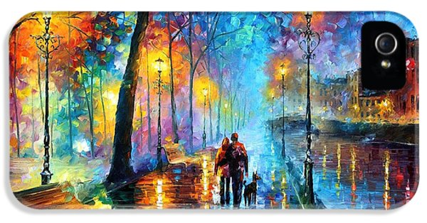 Saxophone iPhone 5 Case - Melody Of The Night - Palette Knife Landscape Oil Painting On Canvas By Leonid Afremov by Leonid Afremov