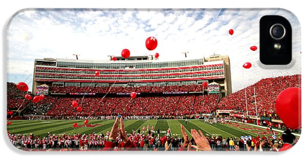 Nebraska iPhone 5 Case - Memorial Stadium by Jennifer Mecca