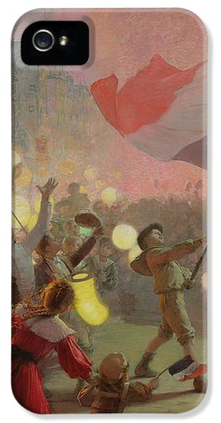 Memory Of The National Festival IPhone 5 Case by Hippolyte Berteaux