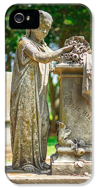 Memphis Elmwood Cemetery Monument - Cassie Hill IPhone 5 Case by Jon Woodhams