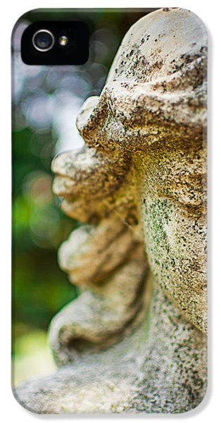 Memphis Elmwood Cemetery - Girl With Cross Close-up IPhone 5 Case by Jon Woodhams