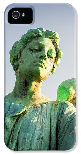 Memphis Elmwood Cemetery - Patinated Angel IPhone 5 Case by Jon Woodhams