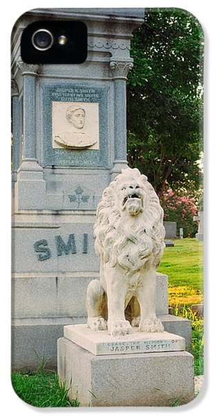 Memphis Elmwood Cemetery - Guarding Jasper IPhone 5 Case by Jon Woodhams
