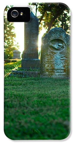 Memphis Elmwood Cemetery - Backlit Grave Stones IPhone 5 Case by Jon Woodhams