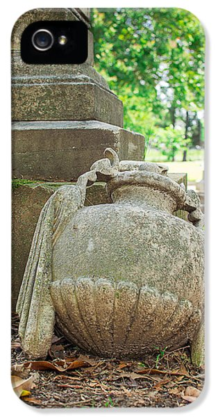 Memphis Elmwood Cemetery Monument - Fallen IPhone 5 Case by Jon Woodhams