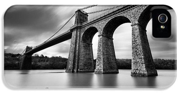 Menai Suspension Bridge IPhone 5 Case by Dave Bowman