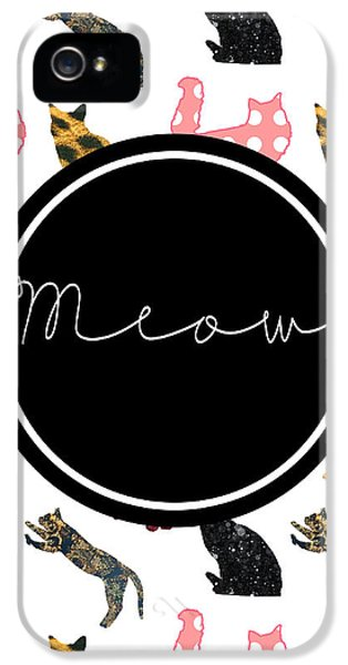 Cat iPhone 5 Case - Meow by Pati Photography