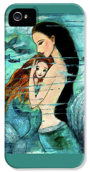 Mermaid Mother And Child IPhone 5 Case by Shijun Munns