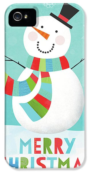 Merry Snowman IIi IPhone 5 / 5s Case by Lamai Mccartan