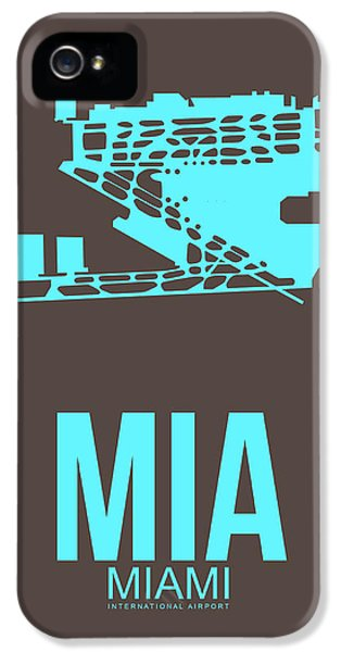 Mia Miami Airport Poster 2 IPhone 5 Case by Naxart Studio