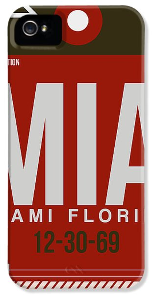 Mia Miami Airport Poster 4 IPhone 5 Case by Naxart Studio