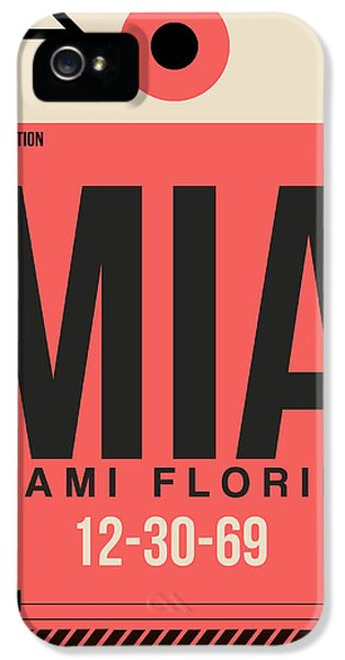 Miami iPhone 5 Case - Miami Airport Poster 3 by Naxart Studio