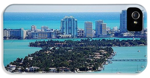 Iger iPhone 5 Case - Miami Beach & Biscayne Bay by Joel Lopez