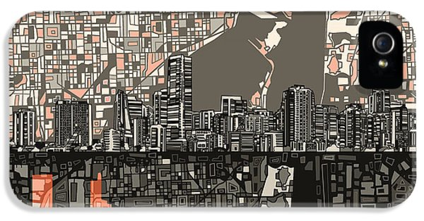 Miami Skyline iPhone 5 Case - Miami Skyline Abstract 2 by Bekim Art