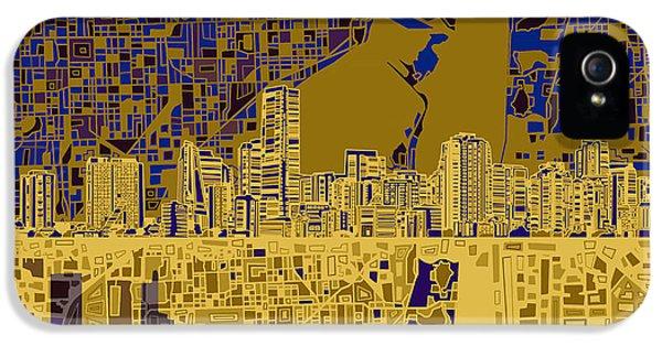 Miami Skyline iPhone 5 Case - Miami Skyline Abstract 3 by Bekim Art