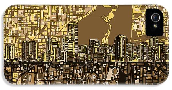 Miami Skyline iPhone 5 Case - Miami Skyline Abstract 6 by Bekim Art