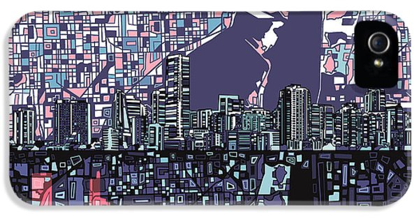 Miami Skyline iPhone 5 Case - Miami Skyline Abstract by Bekim Art