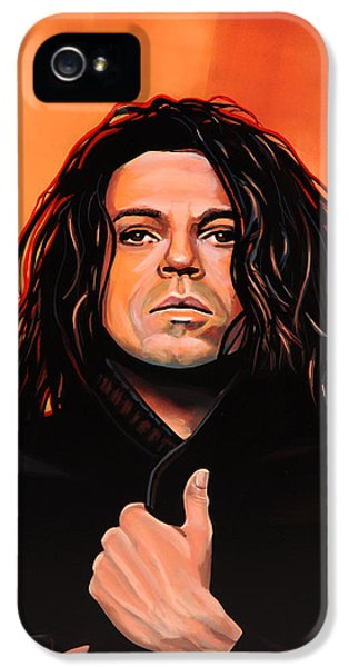 Michael Hutchence Painting IPhone 5 Case by Paul Meijering