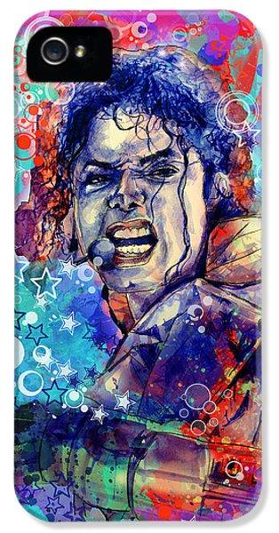 Michael Jackson 11 IPhone 5 Case by Bekim Art