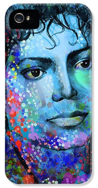 Michael Jackson 14 IPhone 5 Case by Bekim Art