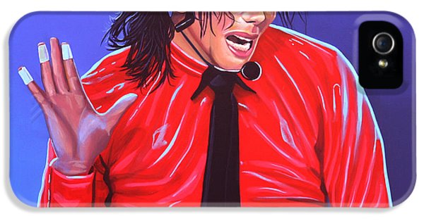 Michael Jackson iPhone 5 Cases - Michael Jackson 2 iPhone 5 Case by Paul  Meijering