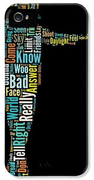 Michael Jackson Typography Poster Bad IPhone 5 Case