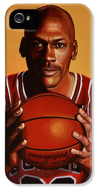 Michael Jordan 2 IPhone 5 Case by Paul Meijering