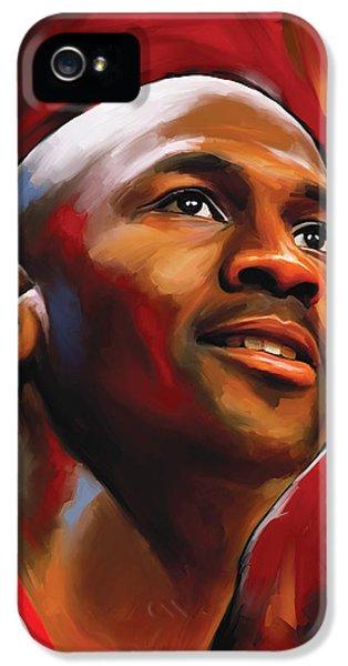 Michael Jordan Artwork 2 IPhone 5 Case by Sheraz A