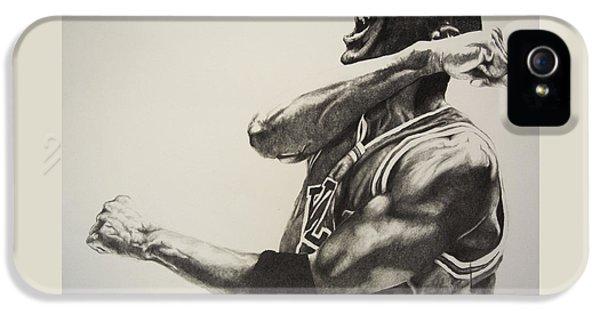 Michael Jordan IPhone 5 Case by Jake Stapleton