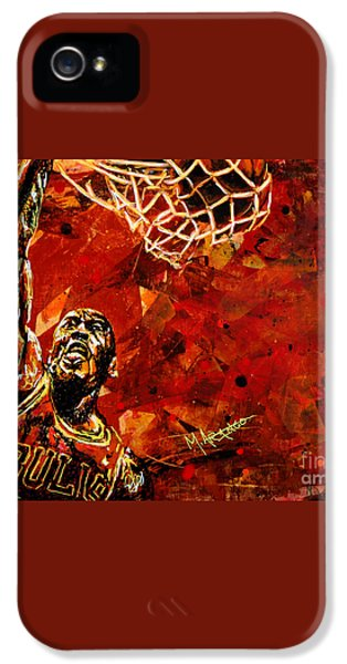 Michael Jordan IPhone 5 Case by Maria Arango