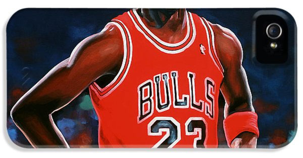 Bull iPhone 5 Cases - Michael Jordan iPhone 5 Case by Paul Meijering