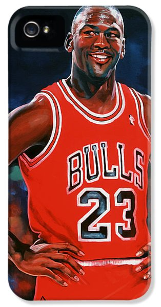 Wizard iPhone 5 Case - Michael Jordan by Paul Meijering