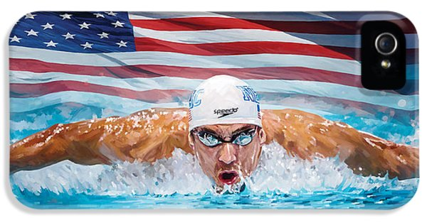 Michael Phelps Artwork IPhone 5 Case