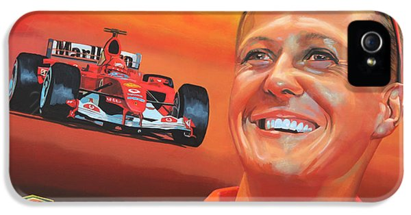 Michael Schumacher 2 IPhone 5 Case by Paul Meijering