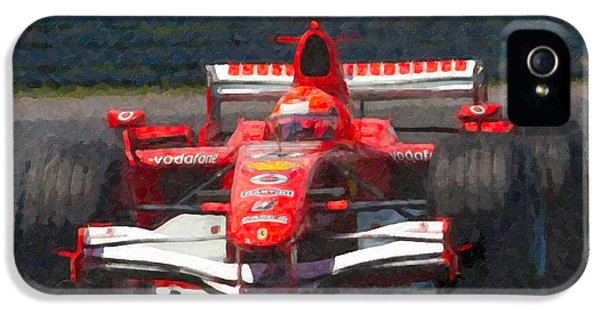 Michael Schumacher Canadian Grand Prix I IPhone 5 Case by Clarence Holmes