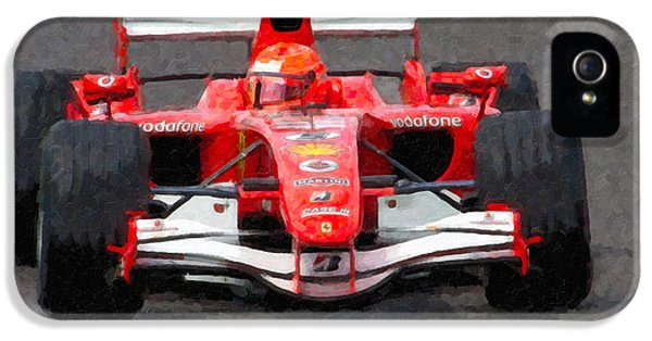 Michael Schumacher Canadian Grand Prix II IPhone 5 Case by Clarence Holmes