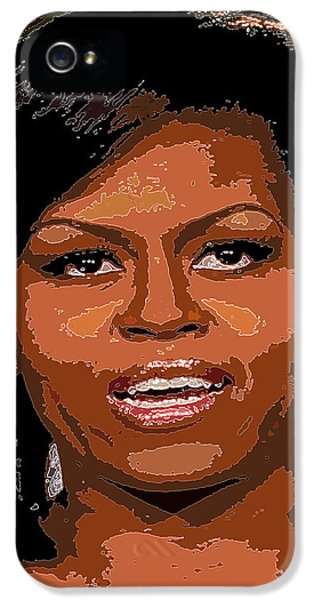 Michelle Obama IPhone 5 Case by Dalon Ryan