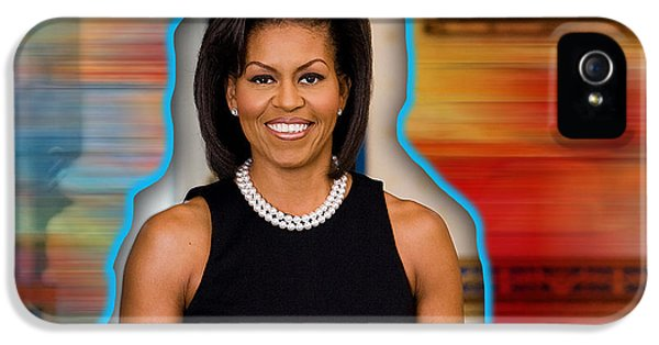 Michelle Obama IPhone 5 Case by Marvin Blaine