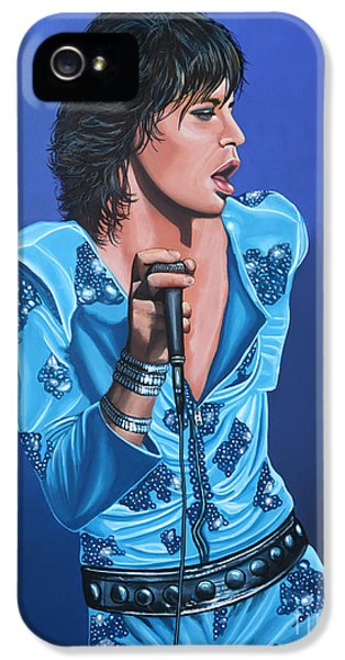 Rolling Stone Magazine iPhone 5 Case - Mick Jagger by Paul Meijering