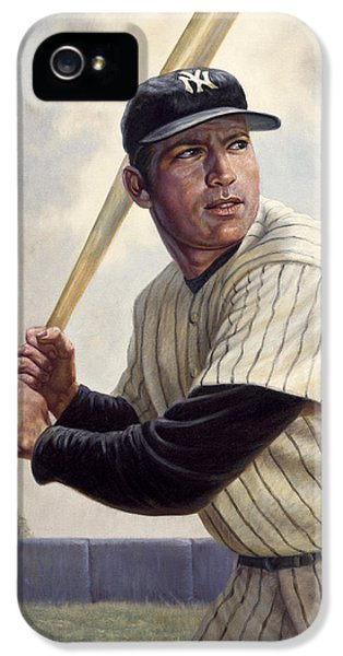 Babe Ruth iPhone 5 Case - Mickey Mantle by Gregory Perillo