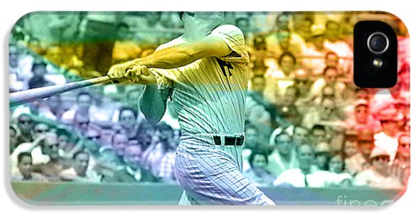 Mickey Mantle IPhone 5 Case by Marvin Blaine
