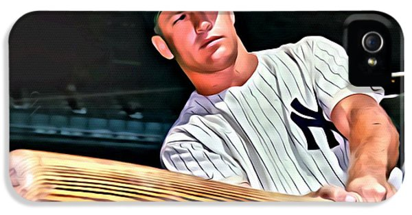 Mickey Mantle Painting IPhone 5 / 5s Case by Florian Rodarte