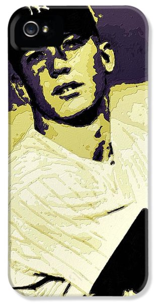 Mickey Mantle Poster Art IPhone 5 Case by Florian Rodarte
