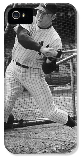 Mickey Mantle Poster IPhone 5 / 5s Case by Gianfranco Weiss